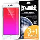 iPhone 6 / 6S Screen Protector - Invisible Defender [3+1 Free/MAX HD CLEAR QUALITY][Case Compatible] Perfect Touch Precision High Definition (HD) Clear Film for Apple iPhone 6 / 6S