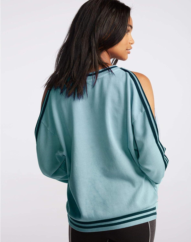 Champion LIFE Womens Vintage Dye Fleece Cold Shoulder Top