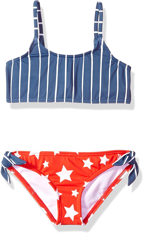 Billabong Girls Seein Stars Rashguard Swim Set Y218PBSE