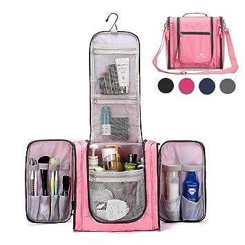 a7a27da574ff Large Hanging Travel Toiletry Bag for Men and Women Waterproof Makeup  Organizer Bag...