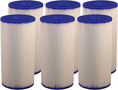 Compatible for FXHSC GE FXHSC, R50-BBSA, R50-BB, WFHDC3001, And American Plumber W50PEHD, W50PEHDA Whole House 10 x 4.5 Sediment Filter – 6PACK