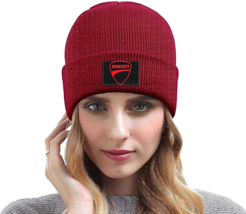 Wool Beanie Cap Knit Cap Fine Knit Beanie Skull HatsSki Warm Mens Ducati-Motorcycle-Logo
