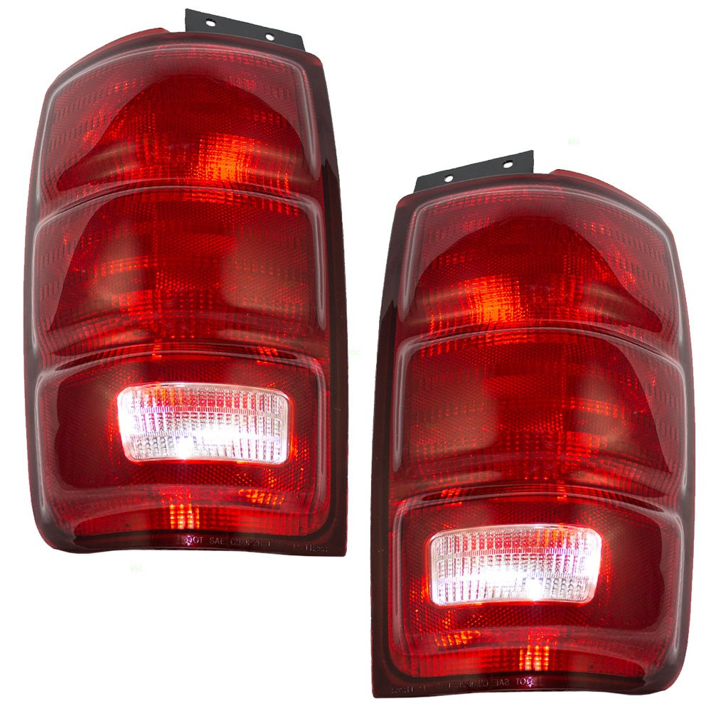 Driver and Passenger Taillights Tail Lamps Replacement for Ford SUV F75Z13405AC F75Z13404AC 4333243221