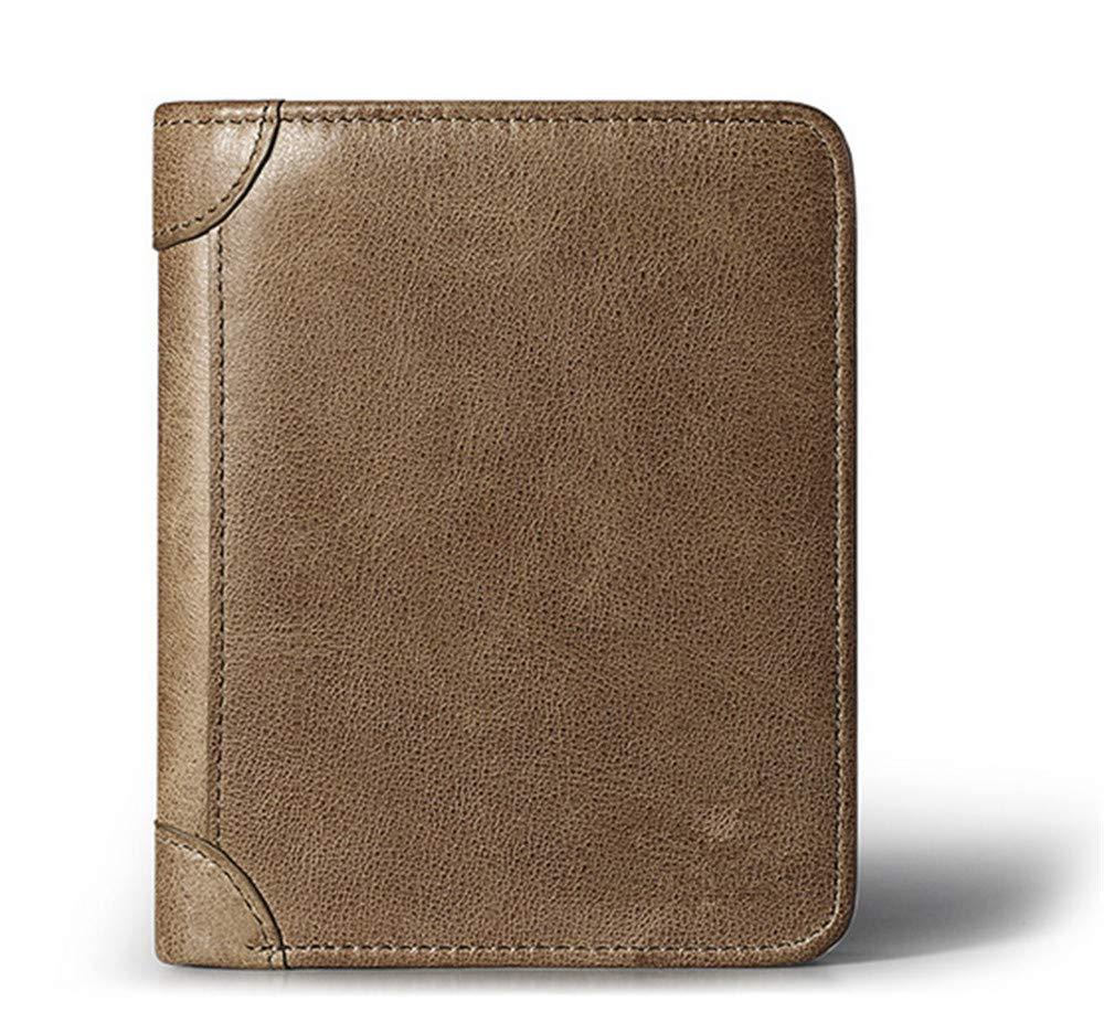 LJYkatins Leder-Rindsleder Grünikale multifunktionale Retro-Brieftasche für Herren B07MGR9SH6 Geldbrsen