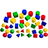 Learning Advantage 7749 Mini Geometric Solids, Grade: Kindergarten to 12 (Pack of 40)