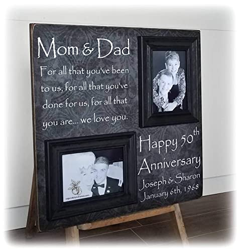 Top Then And Now Anniversary Picture Frame