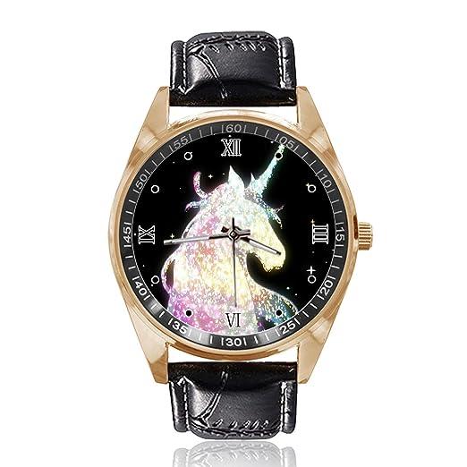 Amazon.com: Reloj de pulsera unisex con diseño de unicornio ...