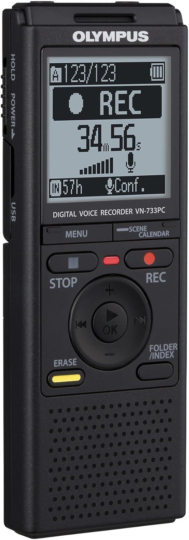 Olympus Vn 733 Diktiergerät 4 Gb Speicher Micro Sd Kartenslot Usb Anschluss Inklusive Batterien Und Tasche Bürobedarf Schreibwaren