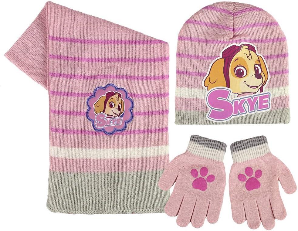 Unica Set di sciarpa Skye Rosa Berretto e guanti per bambina PAW PATROL Cerd/á 864376