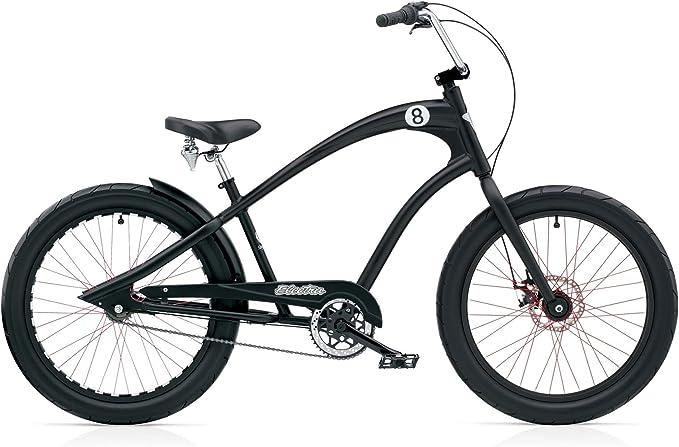 Bicicletta electra straight 8 8i men black satin disc cruiser, 268213 268213E