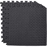 CLISPEED 4pcs EVA Foam Interlocking Tiles Floor Mats Kids Play Mats Exercise Puzzle Mats Gym Mats with Borders 50cm…