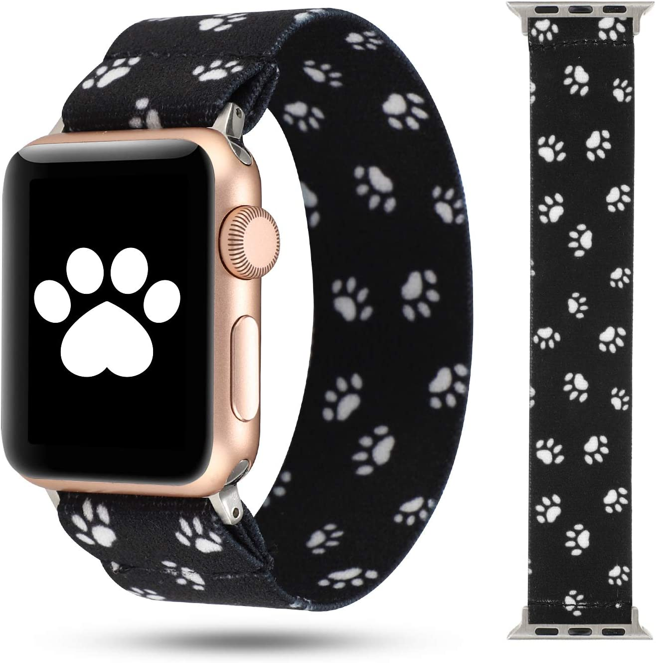 WONMILLE Scrunchie Band Compatible with Apple Watch Band Series 6/5/4 38mm/40mm, Nylon Elastic Bracelet Women Replacement Wristbands for iWatch 3/2/1 42mm/44mm Accessories