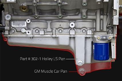 Amazon Com Holley 302 1 Gm Ls Retro Fit Engine Oil Pan Automotive