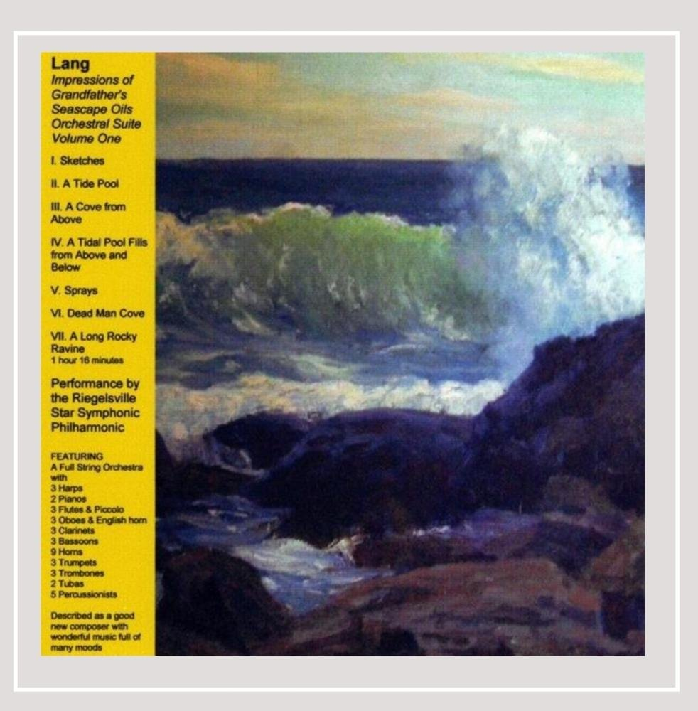 CD : Richard Lang D. - Impressions Of Grandfather's Seascape Oils Orchestral Suite Vol. One (CD)