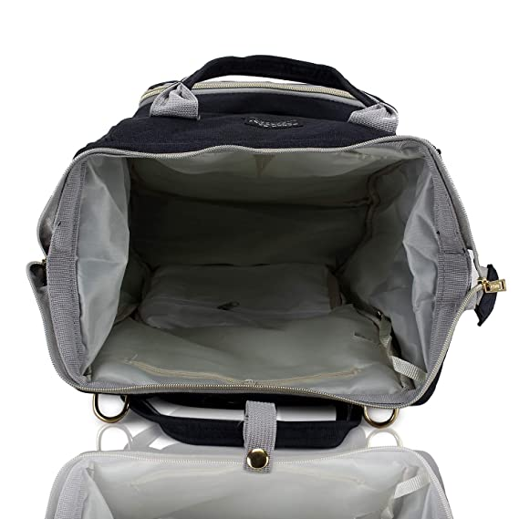 Foolzy Diaper Bag Backpack Multi-Function Waterproof Mother Bag for Travel with Baby, Large Capacity, Durable and Stylish