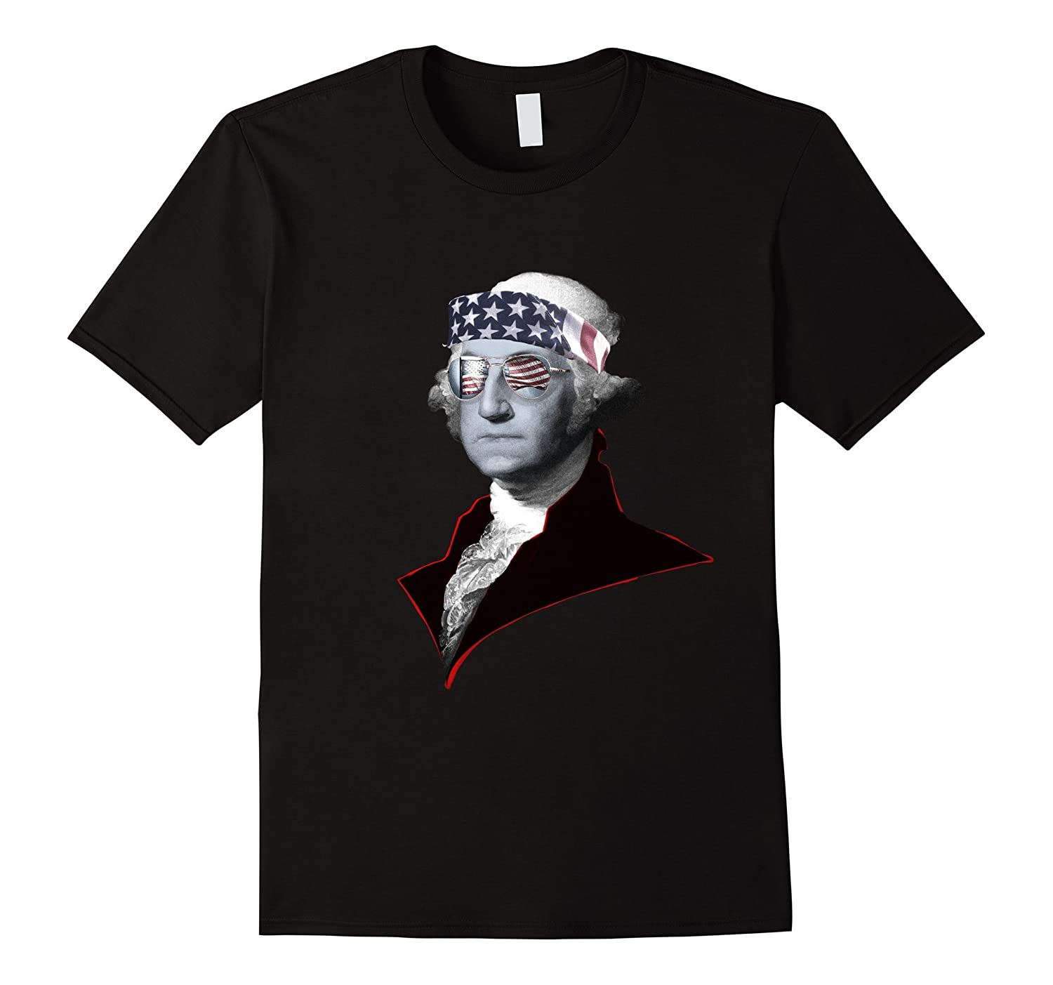 AMERICA - George Washington Freedom Tee Shirt by Enhaus-BN