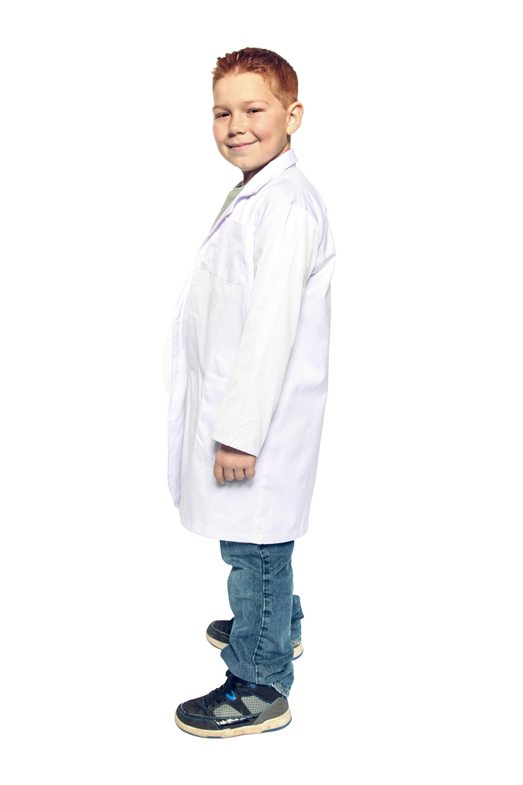 Working Class Children's Lab Coat,White (Ages 8-10) by Working Class