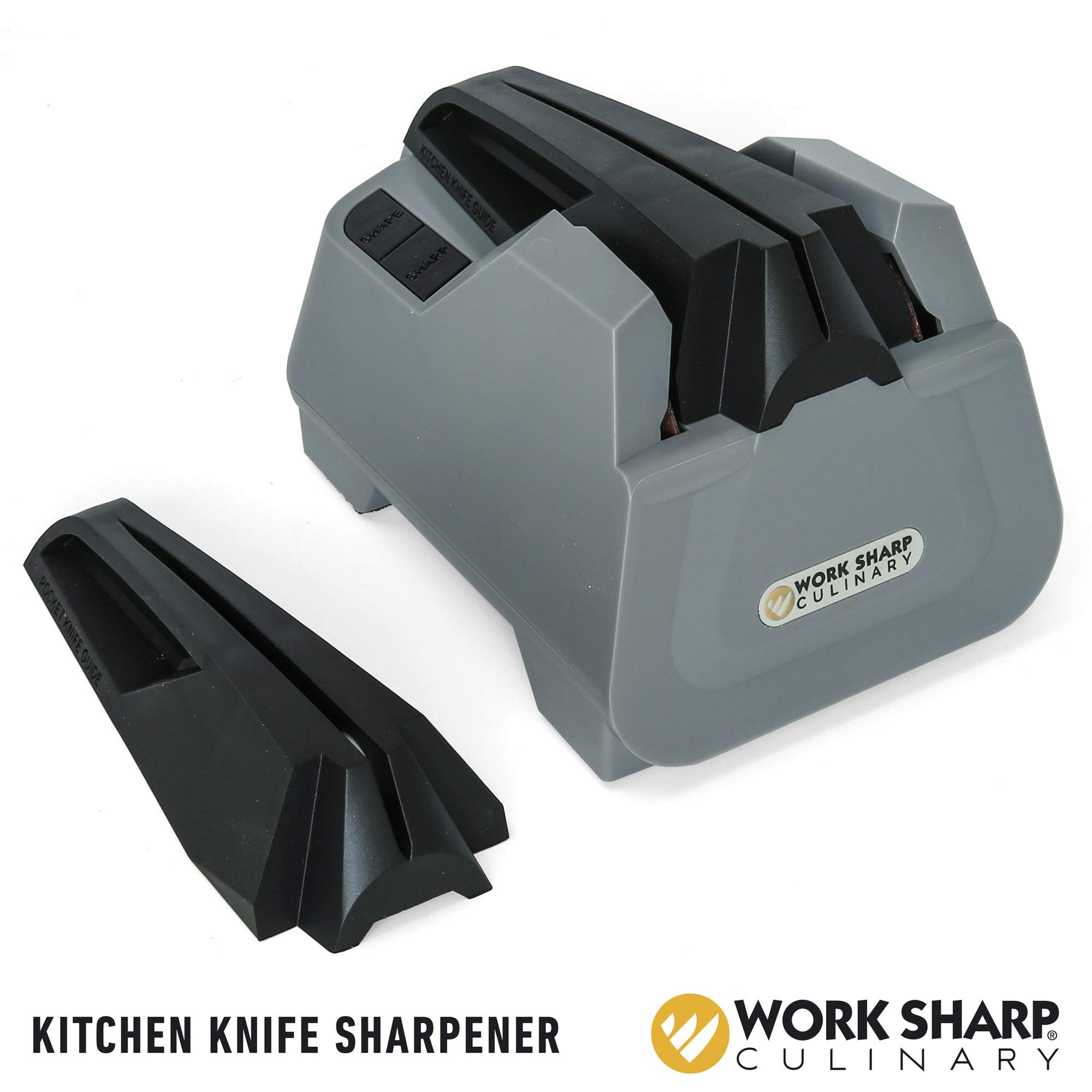 Work Sharp Culinary E2 Plus Kitchen and Pocket Knife Sharpener