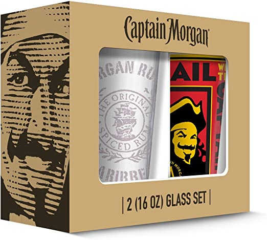 Amazon.com: Captain Morgan Cartel Pub de vidrio (2 unidades ...