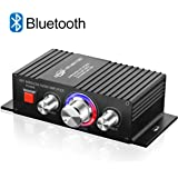 TTMOW Mini Amplificador Bluetooth 4.2 Digital 60W HiFi Audio Amp Super Bass para Tablet PC Portátiles Smartphone Auto Coche MP3 MP4 Altavoces, Color Negro