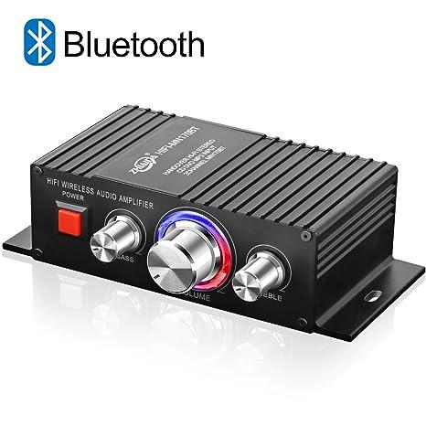 TTMOW Mini Amplificador Bluetooth 4.2 Digital 100W (2 x 50W) HiFi Audio Amp Super Bass para Tablet PC Portátiles Smartphone Auto Coche MP3 MP4 ...