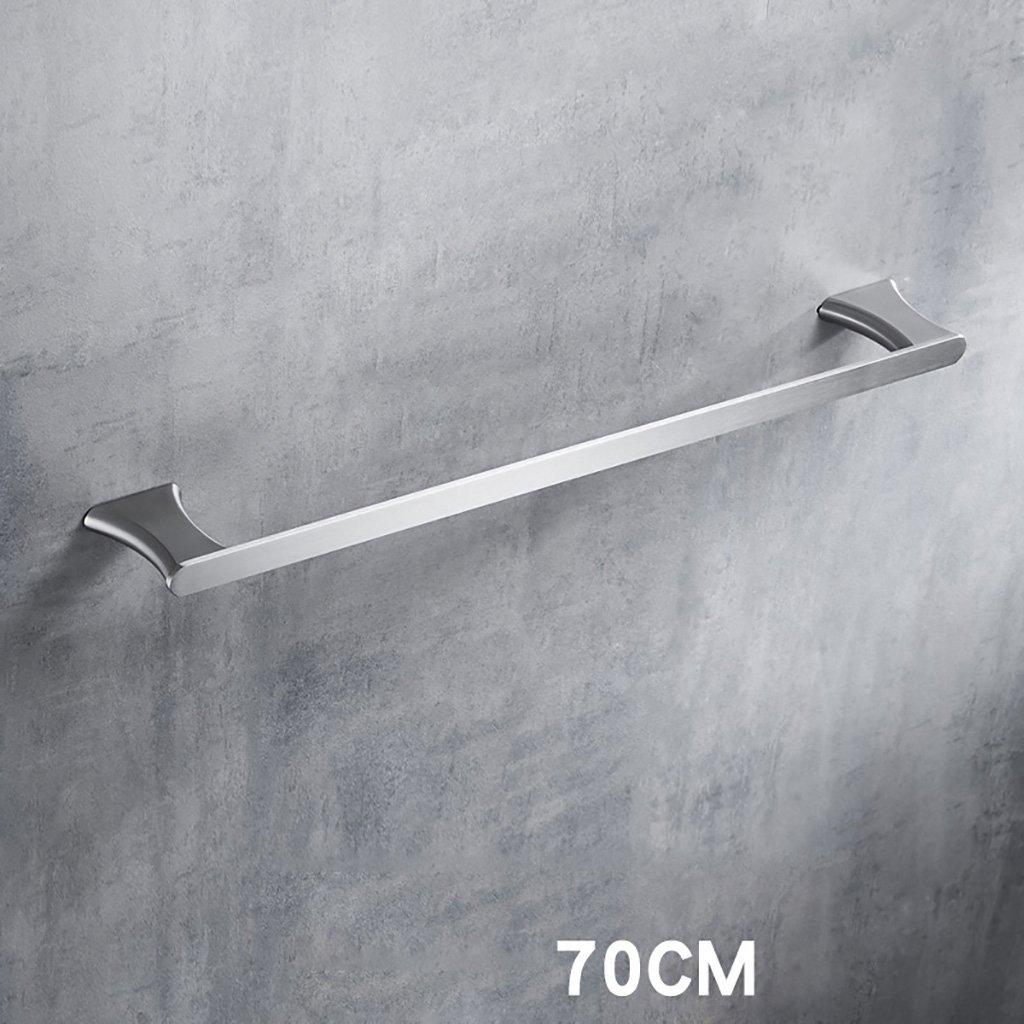 タオルラックウォールマウントウォールマウントステンレススチールタオルロッドシングルポールタオルラックのドアの浴室のキッチン (サイズ さいず : A 50cm) B07D8VB4WK A 50cm A 50cm
