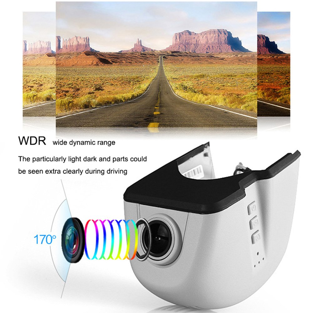 Dash Cam 160 Wide Angle Car Cam Vehicle Videos Recorder with Night Vision WDR ElecStack Full HD 1080P Dash Camera Loop Recording