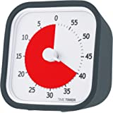 Time Timer MOD, 60 minute visual analog timer with durable silicone case and optional alert, charcoal gray