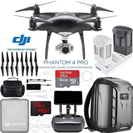 dji Phantom 4 Pro Quadcopter Drone cámara (Obsidiana) con batería ...