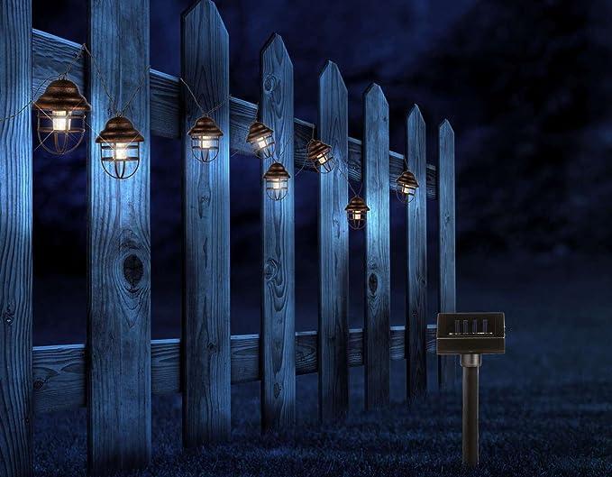 Led catena di luce a energia solare lanterne festa in giardino