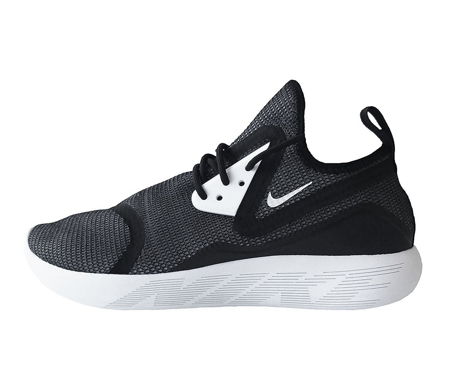 Nike Mens Lunarcharge Essential Ankle-High Fabric Running Shoe  41|Black White Black 001