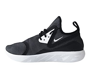 NIKE Mens Lunarcharge BR Running Shoes-Black/White-Black-10