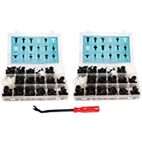 AMENVTOOL 240 Pcs Push Type Retainer Clips For Toyota GM Ford Honda Acura Chrysler Jaguar With Plastic Storage Case