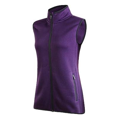 spoear Zip Up Womens Vest with Zipper Pockets Athletic Sweater Fleece Vest Sleeveless Sweater Jacket