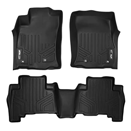 SMARTLINER Floor Mats 2 Row Liner Set Black for 2013-2018 Toyota 4Runner / 2014