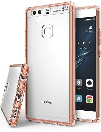 Amazon.com: Ringke FUSION para Huawei P9 Plus, rosa dorado ...