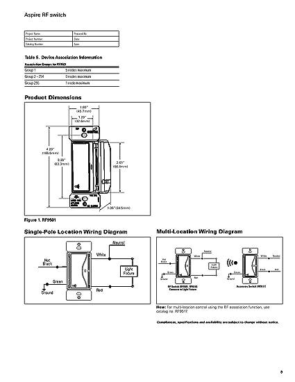 eaton rf9540 nws aspire single pole multi location master dimmer light switch, white satin finish Smart Car Diagrams