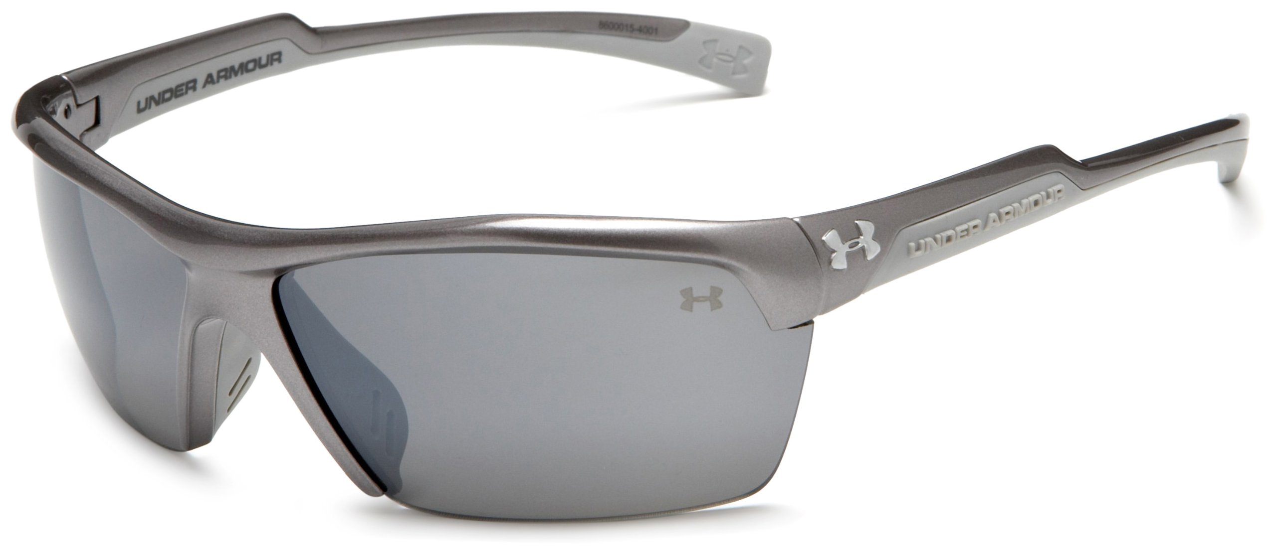 Under Armour Velocity Multiflection Sport Sunglasses, Shiny Metallic Graphite Frame/Gray Lens, one size by Under Armour