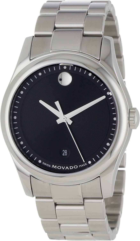 Movado Men s 0606481 Movado Sportivo Stainless-Steel Black Museum Dial Bracelet Watch