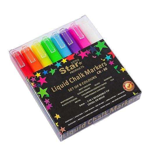 8 opinioni per Bright Neon Coloured Chalk Pens / Chalk Markers – 8 Pack Liquid Chalk Ink Pen