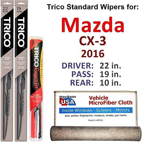 Amazon Com Wiper Blades For 2016 Mazda Cx 3 Driver Passenger Rear
