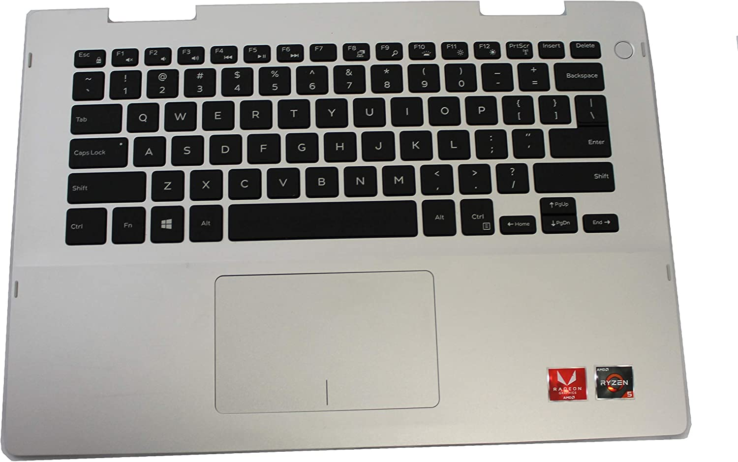 41KVJ Dell Inspiron 5485 Genuine Palmrest with Keyboard and Touchpad (Renewed)