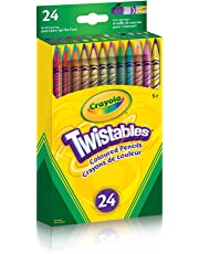 Crayola 24 Twistables Coloured Pencils, Adult Colouring Pencil Crayons, Bullet Journaling, School and Craft Supplies, Drawing Gift for Boys and Girls, Kids, Teens Ages 5, 6,7, 8 and Up, Back to school, School supplies, Arts and Crafts,  Gifting