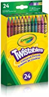 Crayola 24 Twistables Coloured Pencils, Adult Colouring Pencil Crayons, Bullet Journaling, School and Craft Supplies,...