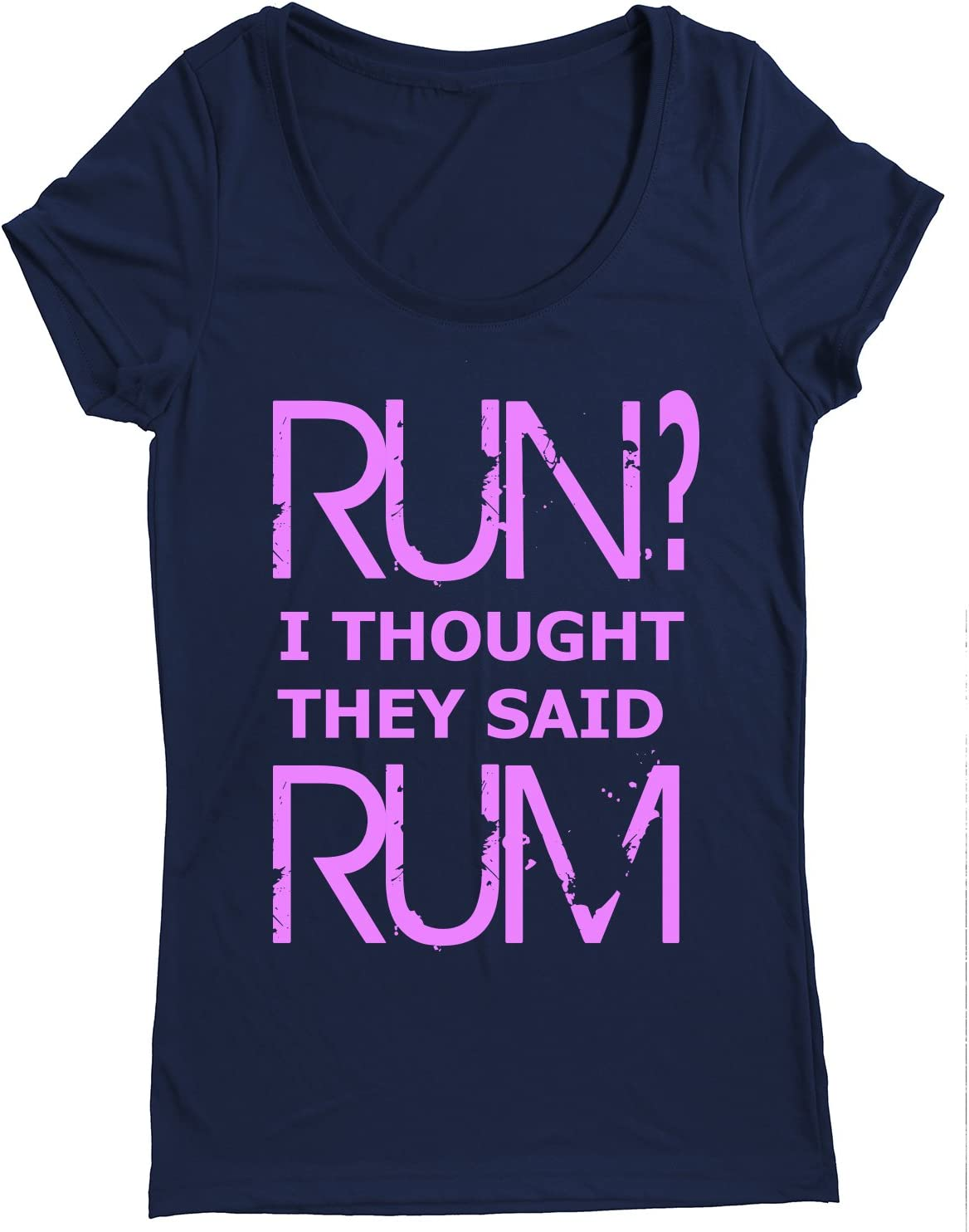 Performance Dry Sports Shirt Run I Thought They Said Rum Women Running Short Sleeves top