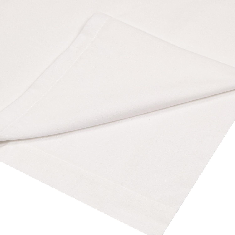 Debenhams White Brushed Cotton Flannelette 200 Thread Count Flat Sheet Double
