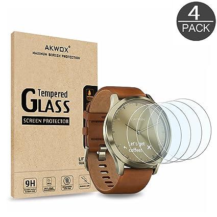 AKWOX [4 Unidades] Protector de Pantalla para Garmin Vivomove HR ...
