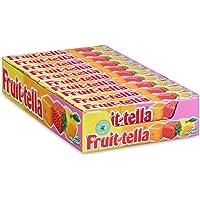 Fruittella Summer Fruit, zachte snoepjes – grootverpakking met 20 rollen: natuurlijke smaken en kleurstoffen, snoepjes…