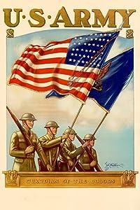 WPA War Propaganda US Army Guradian of The Colors Recruiting Cool Wall Decor Art Print Poster 24x36