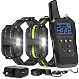 FunniPets Dog Training Collar, 2600ft Range Dog Shock Collar Waterproof Shock Collar for 2 Dogs with 4 Training Modes…